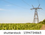 Power Transmission Tower. Air...