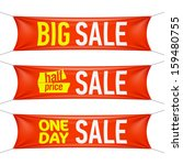 big  half price and one day... | Shutterstock .eps vector #159480755