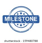 business milestone stamp with... | Shutterstock . vector #159480788