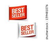 bestseller labels. vector. | Shutterstock .eps vector #159481076