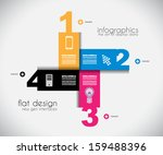 infographic templated with... | Shutterstock .eps vector #159488396