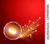 happy diwali burning crackers... | Shutterstock .eps vector #159488486