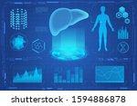human liver futuristic medical...