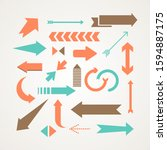 collection of colored arrows  ... | Shutterstock .eps vector #1594887175