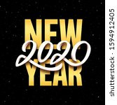 2020 new year party flyer...   Shutterstock .eps vector #1594912405