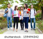 group of college students... | Shutterstock . vector #159494342