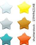 set of colored volume stars