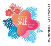 summers sale banner template... | Shutterstock .eps vector #1594969165