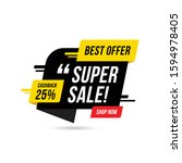super deal sale banner template ... | Shutterstock .eps vector #1594978405