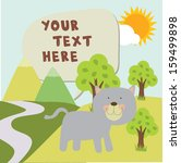 doggy in garden with text | Shutterstock .eps vector #159499898
