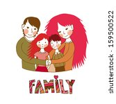 sweet young family with parents ...   Shutterstock .eps vector #159500522