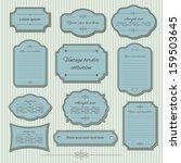 vintage frame set. calligraphic ... | Shutterstock .eps vector #159503645