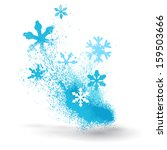 grunge element of snowflakes... | Shutterstock .eps vector #159503666