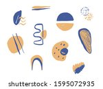 creative texture with abstract... | Shutterstock .eps vector #1595072935