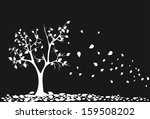 autumn tree with falling down... | Shutterstock .eps vector #159508202