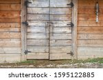 Wooden Barn Wall With Wooden...