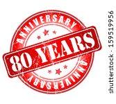 80 years anniversary stamp. ... | Shutterstock .eps vector #159519956
