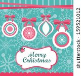 christmas card design. vector... | Shutterstock .eps vector #159521012