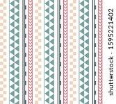 vector ethnic boho seamless... | Shutterstock .eps vector #1595221402