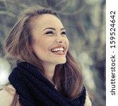 Young Beautiful Laughing Girl...