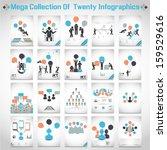 mega collections of ten modern... | Shutterstock . vector #159529616