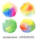 set of watercolor backgrounds...   Shutterstock . vector #1595335192