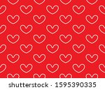 Vector Seamless Heart Pattern ...
