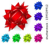 set of bows made of multicolor... | Shutterstock .eps vector #159539912