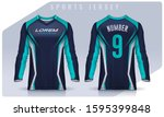 t shirt sport design template ... | Shutterstock .eps vector #1595399848