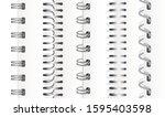 set of silver vertical spirals...   Shutterstock .eps vector #1595403598