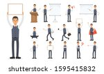 set of working people on white... | Shutterstock .eps vector #1595415832