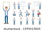 set of working people on white... | Shutterstock .eps vector #1595415835