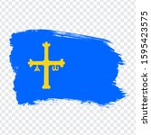 flag of asturias brush strokes. ...