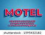 bright 3d font typeface  retro... | Shutterstock .eps vector #1595432182