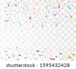 color confetti isolated on... | Shutterstock .eps vector #1595432428