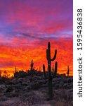 Colorful   Burning Desert...