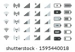 battery and signal icons.... | Shutterstock .eps vector #1595440018