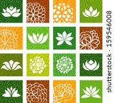 flower icons   Shutterstock .eps vector #159546008