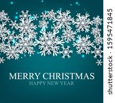 merry christmas party... | Shutterstock .eps vector #1595471845