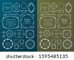 high quality luxury frame...   Shutterstock .eps vector #1595485135