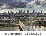 Warsaw Skyline Behind The...