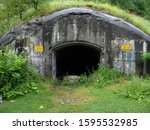 Entrance To The Bunker. Summer. ...