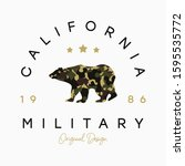california t shirt design with... | Shutterstock .eps vector #1595535772