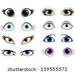 set of cartoon eyes with...