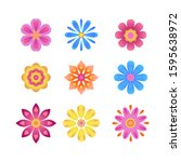 set of different colorful...   Shutterstock .eps vector #1595638972