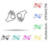 sign language multi color style ...