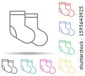 socks multi color style icon....