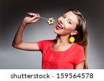 portrait of beautiful young... | Shutterstock . vector #159564578