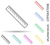 ruler multi color style icon....