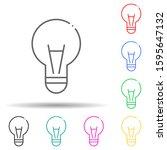 light bulb multi color style...